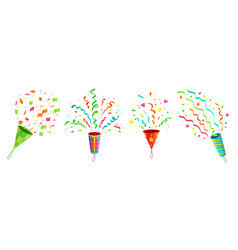 party confetti popper exploding birthday vector image