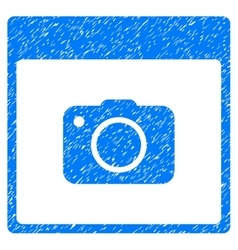 Photo Camera Calendar Page Grainy Texture Icon vector image