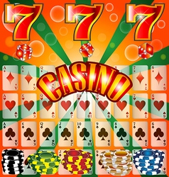 Poker Casino Cards Background Gambling Symbol Play vector