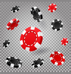 poker or roulette chips or 3d casino coins vector image
