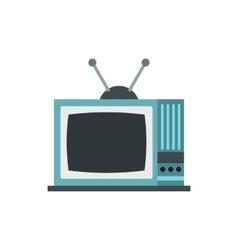 Retro TV icon flat style vector image