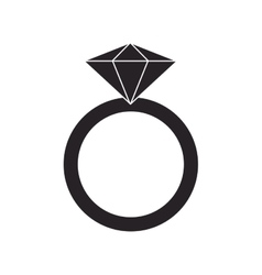 ring with precious stone icon vector image