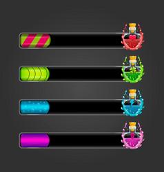 Set bar downloader with elexir bottles vector