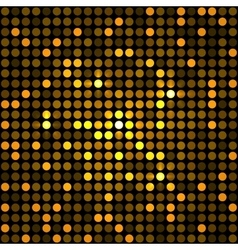 Shining Golden Dots Disco Mosaic Background vector