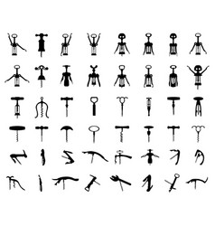 silhouettes corkscrews vector image