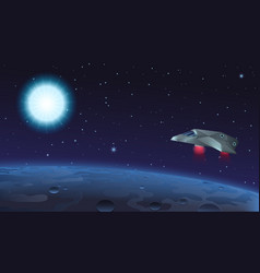 spaceship flying over alien vector image
