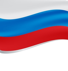 Waving flag of Russia isolated on white vector