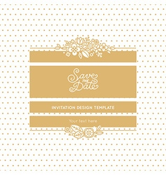 wedding invitation design template vector image