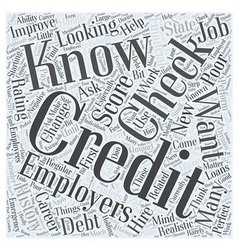 Work Related Credit Checks How to Handle Them If vector image