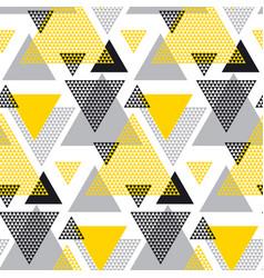 yellow and black creative repeatable motif vector image