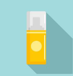 Yellow deodorant icon flat style vector