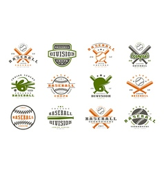 Badges set of baseball team vector image vector image