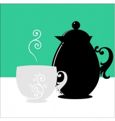 cup and jug vector image