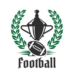 Football championship icon with trophy and ball vector image vector image