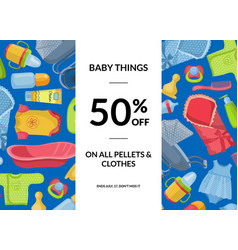 horizontal baby clothes and accessories vector image vector image