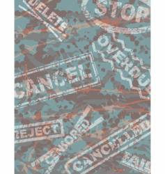 stamped vector image
