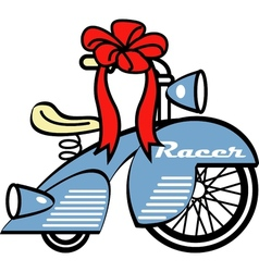 Young childs tricycle gift vector image vector image