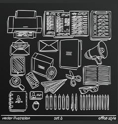 chalkboard sketch work style set 2 vector image vector image
