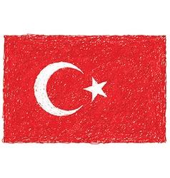 Hand drawn of flag of turkey vector