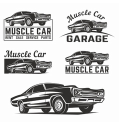Muscle car logo emblem vector image vector image