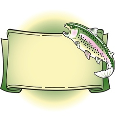 Rainbow trout banner vector image