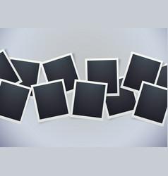 retro photo frame background sweet memories vector image vector image
