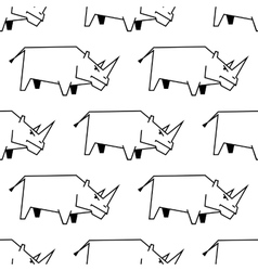 Seamless pattern of a stylized rhinoceros vector image