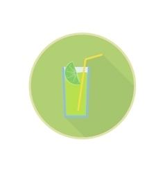 symbol of fresh green lemon juice cocktail vector image