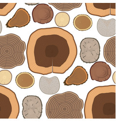 tree wood trunk slice texture circle cut wooden vector image