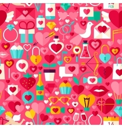 Valentines Day Pink Seamless Pattern vector image vector image