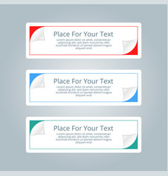 a set of simple colorful horizontal banners with vector image