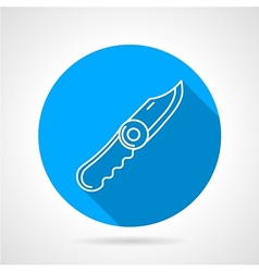 Blue icon for pocket knife vector image