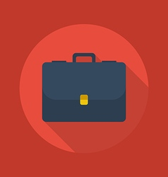 Business Flat Icon Briefcase vector image vector image