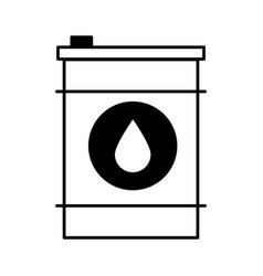 Oil barrel isolated icon vector