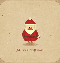 Santa Claus on vintage background vector image vector image