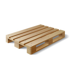 Wooden pallet Isolated on white vector image