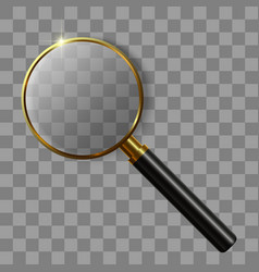 3d realistic magnifying glass vector