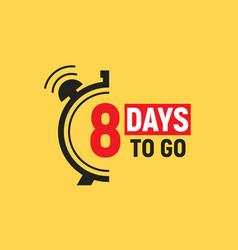 8 days to go last countdown icon seven day go vector