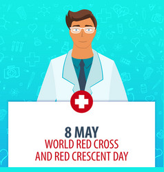 8 may world red cross and red crescent day vector