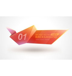 Abstract geometric 3d shape colorful banner vector image