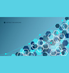 abstract geometric technology background vector image