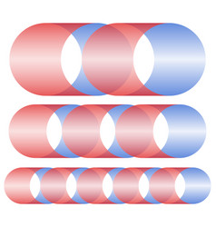 Abstract sting strand shapes in different lengths vector
