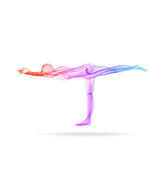 abstract womans silhouette yoga pose asana vector image