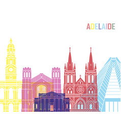 adelaide v2 skyline pop vector image