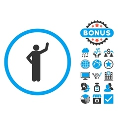 Assurance Flat Icon with Bonus vector