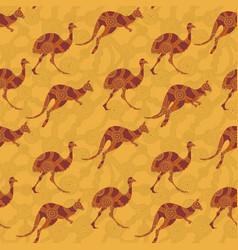 Australian animals pattern vector