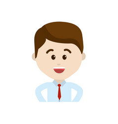 Avatar businessman cartoon face happy expression vector