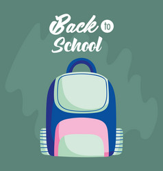 back to school education backpack accessory icon vector image