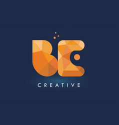 be letter with origami triangles logo creative vector image