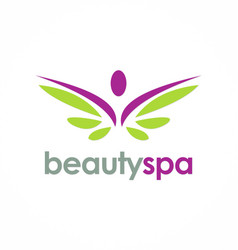 Beauty spa wing logo vector